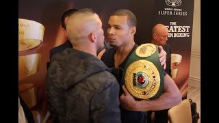 INTENSE FACE OFF! - CHRIS EUBANK JR v AVNI YILDIRIM - HEAD TO HEAD @ FIRST PRESS CONFERENCE / WSSB