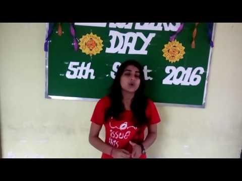 Teachers' Day Speech by Anwesha.