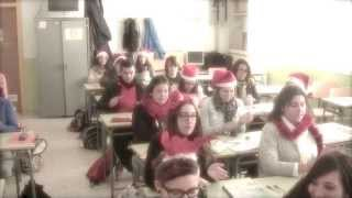 IES Cristóbal Colón - Villancico 2013 - All I want for Christmas is you - cup song cover