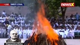 Atal Bihari Vajpayee funeral: Former PM cremated with full state honours in Delhi - Watch full video