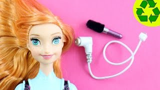 How to Make a REALISTIC DOLL HAIR DRYER and Hair Brush - Easy Doll Crafts - simplekidscrafts