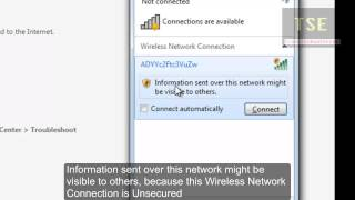 How to Fix 'Information sent over this network might be visible to others' Windows 7