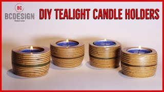 DIY Tealight Candle Holders / No Lathe / by BCDesign01