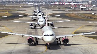 Morning traffic at Mumbai Airport - India Flights