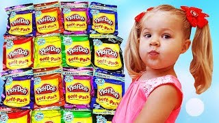 Diana is playing with Play Doh toys for kids Toddlers Video