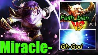 Miracle- ft Faith_bian vs Gh-God - EASY 10K COMEBACK - Dota 2 7.06b