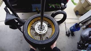 Motorcycle Tire Change with Nomar