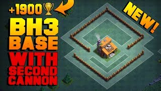 BEST Builder Hall 3 Base w/ 2 CANNONS! | NEW CoC BH3 ANTI 2 STAR Builder Base!! | Clash of Clans
