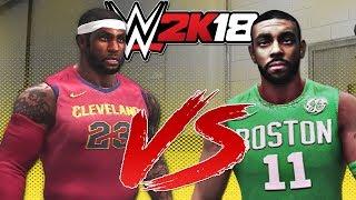 WWE 2K18 - Kyrie Irving VS LeBron James FIGHT Backstage!