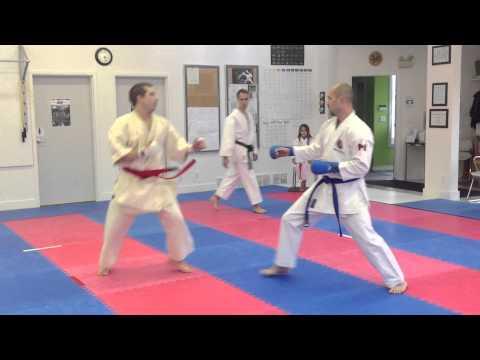 Black Belt Men's Kumite - Fort Garry Shotokan vs Heijoshin Karate | Sparring matches 2012