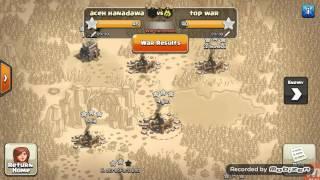 Pertahanan dan serangan wars coc clan aceh hanadawa