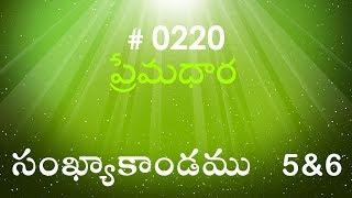 Numbers సంఖ్యాకాండము  5 & 6 (#0220) Telugu Bible Study Premadhara RRK
