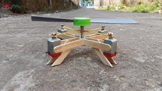 How to make Helicopter Propeller with 4 DC motor