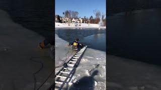 Saving a Dog from a Semi Frozen Lake || ViralHog