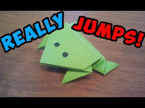 Xxx Mp4 How To Make A Paper Jumping Frog EASY Origami 3gp Sex