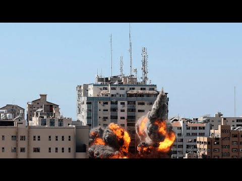 Watch the moment an Israeli air strike hits the Associated Press and Al Jazeera offices in Gaza