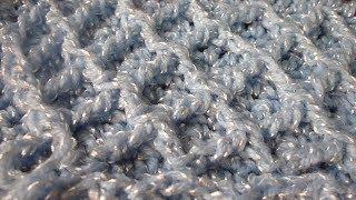 نقشة كروشيه معينات بارزة Crochet the diamond stitch
