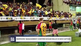 WARRIORS' MANAGEMENT CONFIRM SHOAIB MALIK IS NEW CAPTAIN
