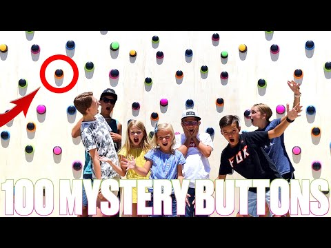 100 MYSTERY BUTTON WALL OF PUNISHMENTS AND PRIZES ONLY ONE BUTTON WILL SAVE YOU