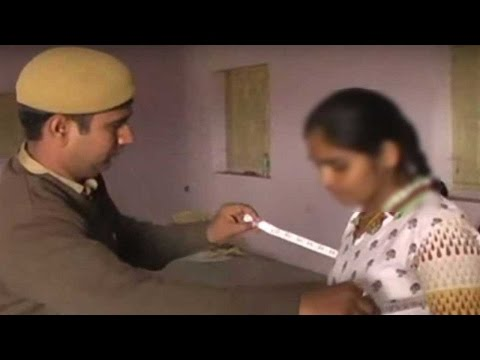 Male Constables physically examine female candidates in Rajasthan