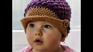 Download Czapka wiosenna z daszkiem/ Spring Hat Cap crochet 3Gp Mp4