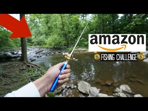 Fishing with the TINIEST Rod on Amazon!! (Surprise Catch!)