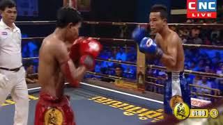 Him Serey Cambodia Vs Petchlokyord, Thailand, Khmer Warrior Boxing CNC TV Boxing 19 August 2018