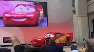 Lightning McQueen visits Detroit Auto Show