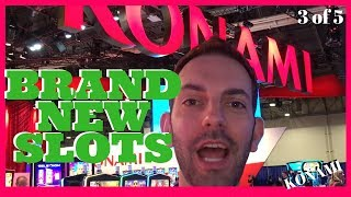 😍 NEW Konami SLOTS for 2018 💥 Star Watch Magma + PURRfect Pirates + MORE ✦ Brian Christopher @ G2E