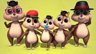 squirrel finger family 3D Rhymes Farmees Songs Nursery Rhymes For Childrens