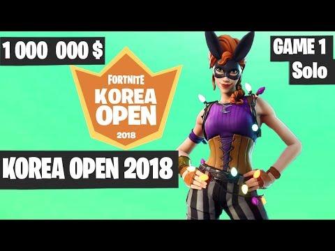 Xxx Mp4 Fortnite Korea Open Solo Game 1 Highlights Fortnite Tournament 2018 3gp Sex
