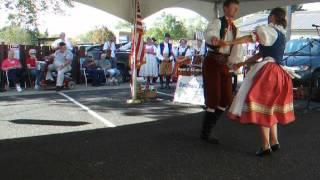 Jan and Jitka dancing Czech Folk Dance