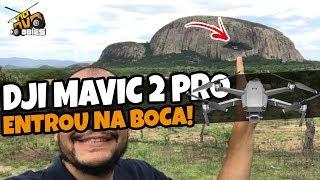 ENFIEI O DRONE NA BOCA DA PEDRA GIGANTE! VEJA O QUE ENCONTREI LÁ! - DJI MAVIC 2 PRO