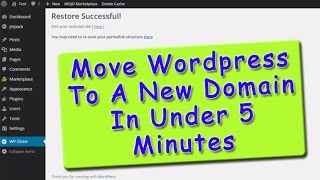 How To Move A Wordpress Site To A New Domain - Step by Step Tutorial