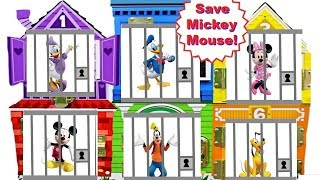 Best Learning Colors Video for Children with Mickey Mouse Clubhouse Jail Rescue | Fizzy Fun Toys