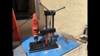 Let's go to make a little drill press stand. How to build. DIY Hagamos un pedestal para taladro.