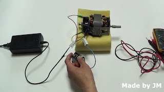 AC universal motor running on DC