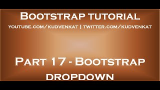 Bootstrap dropdown
