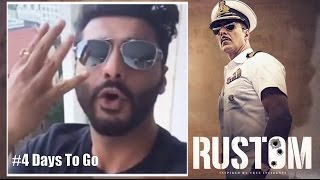 Arjun Kapoor wishes Akshay Kumar for RUSTOM  4 Days To Go Rustom uploaded on 07-04-2017 6709 views