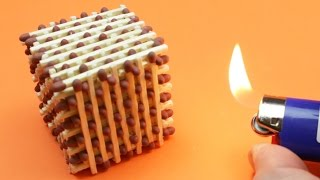 🖌 How to MAKE a Match CUBE & Light it