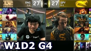 RNG vs SPY - Week 1 Day 2 | Group D LoL S6 World Championship 2016 W1D2 | RNG vs Splyce G1 Worlds