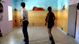 Cowgirl line dance