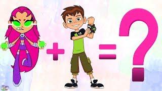 Teen Titans Go! Transforms Raven Ben 10 Starfire Robin Surprise Egg and Toy Collector SETC