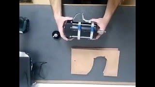 Homemade tablesaw - depth adjustment