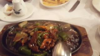 Sizzling Beef At The Chinese Restaurant