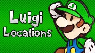 Paper Mario: Sticker Star - All Luigi Locations