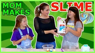 TEACHING OUR MOM TO MAKES SLIME