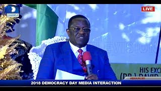Ebonyi State Governor Holds Democracy Day Executive Media Chat Pt.8