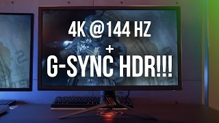 G-SYNC, 4K, 144Hz and HDR = Gaming BLISS!