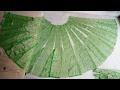 DIY/..How to cut Anarkali lehenga from net saree